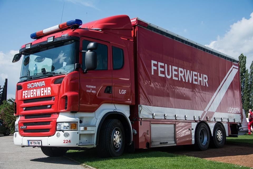 Fire, Truck, Vehicles, Logistics, Transport
