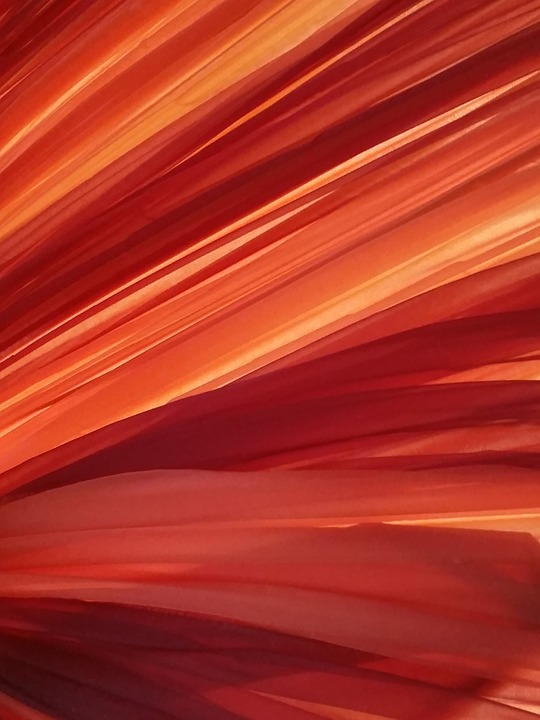 Orange, Veil, Fabric, Background, Red Background