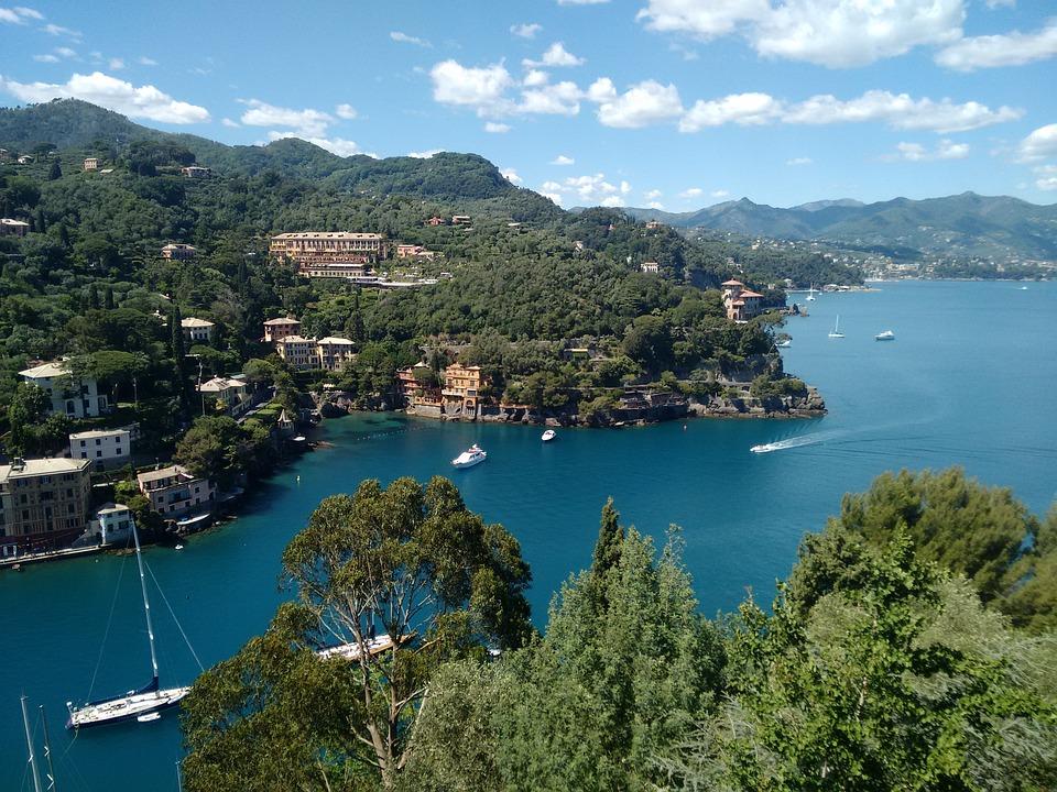 Portofino, Italy, Fishing Village, Vela, Bay, Coast