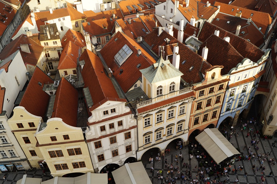Prague, Czech Republic, Capital, Vencel Square, Square