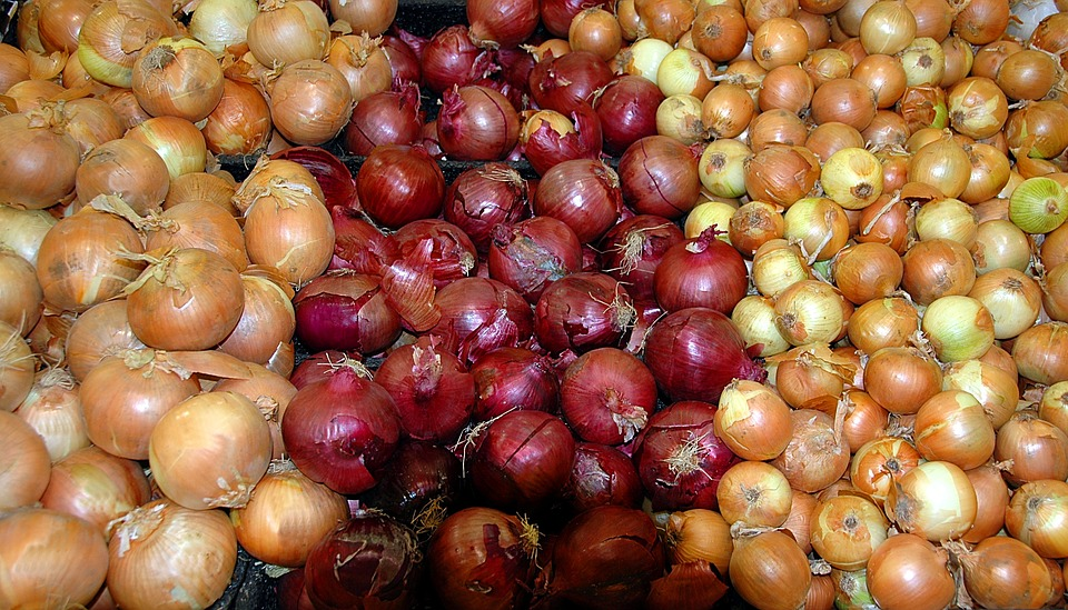 Onions, Background, Market, Vendor, Outdoor Market