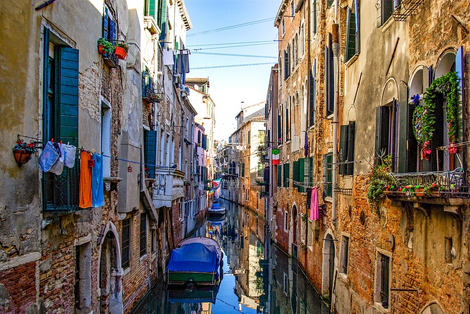 Italy, Venice, Canal, Architecture, Venetian