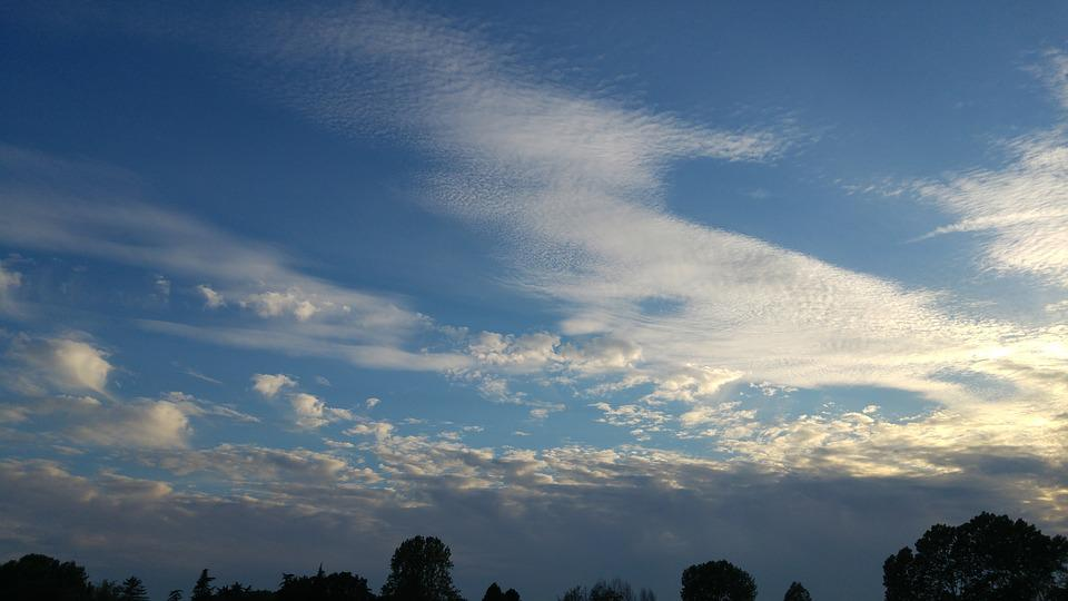 Clouds, Cirrus, Sunset, Veneto