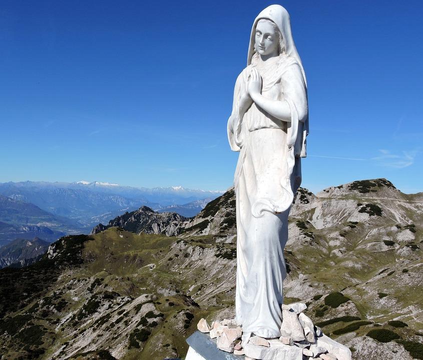 Madonna, Statue, Mountain, Small Dolomites, Veneto