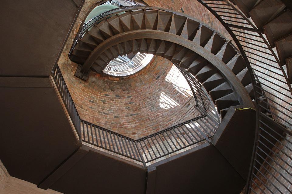 Italy, Veneto, Verona, Tower Of Lamberti, Stairs