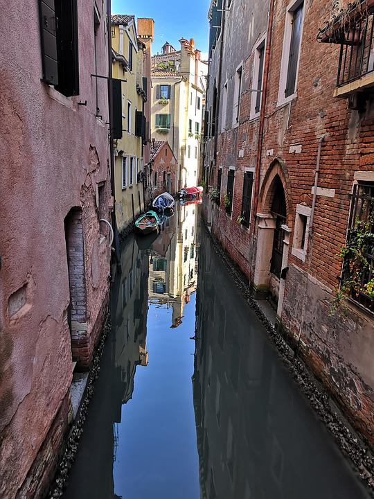Venezia, Venice, Channels, Italy, Gondola