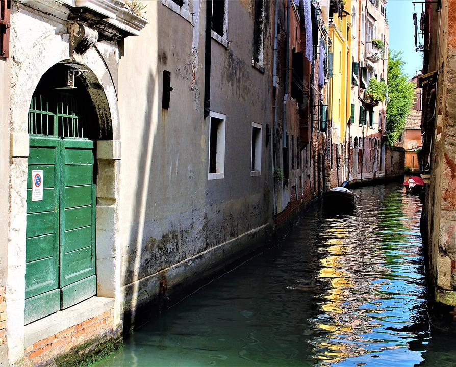 Venice, Italy, Channel, Architecture, House, Buildings