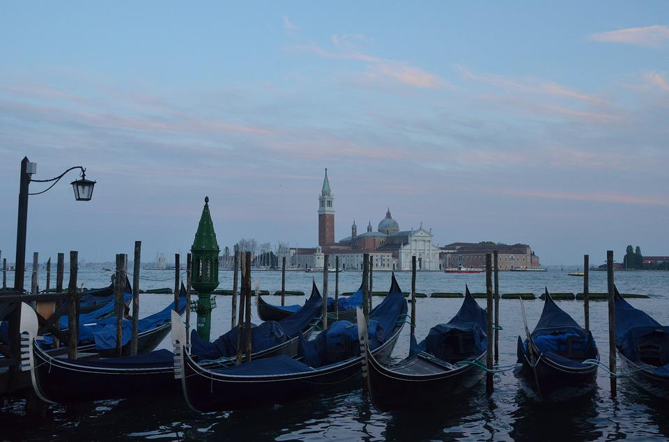 Italy, Venice, Boat, Gondola, Water, Evening