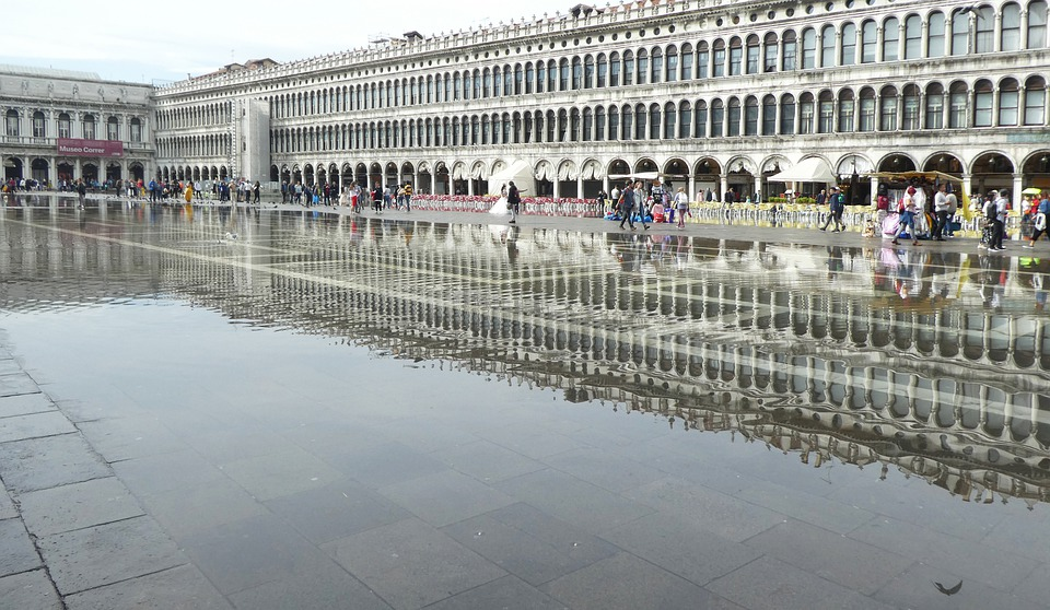 Venice, Piazza San Marco, Italy, Flooded, Tourism
