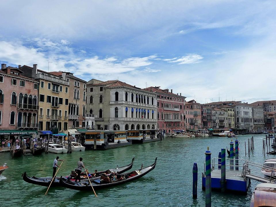 Travel, Venice, Lagoon, Italy, Summer