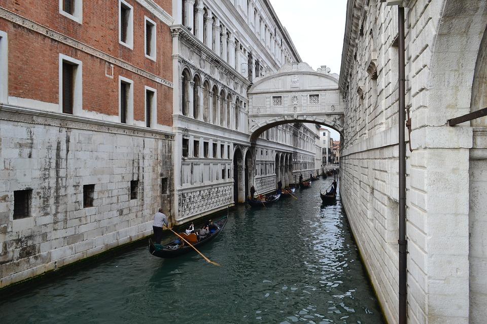 Venice, Gondolas, Italy, Palace, Channel, Venetian