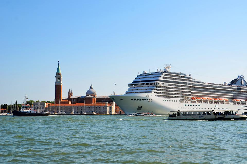 Venice, Pollution, Cruise, Ship, Cruise Ship, Holiday