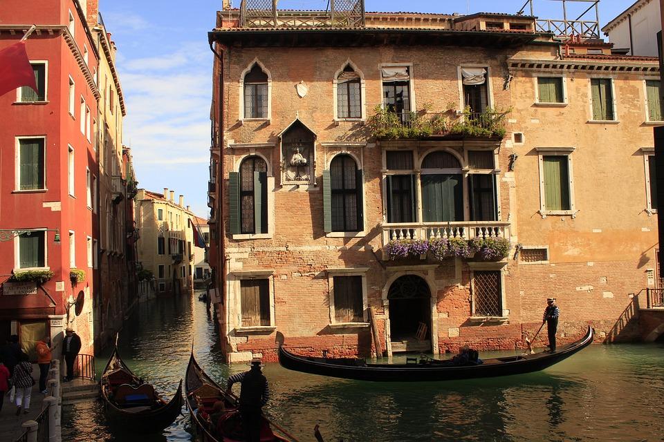 Venice, Water Channel, Gondola, Ship Way