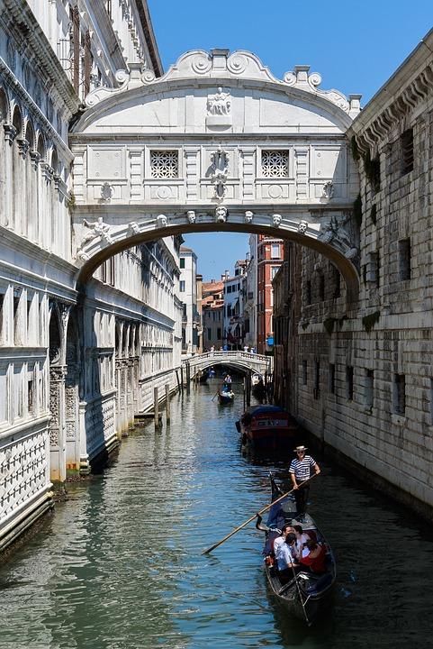 Venice, Bridge, Sighs, Gondola, Water, Italian