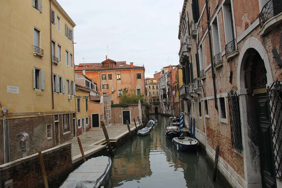 Italy, Venice, Water, Ship, Building, Europe