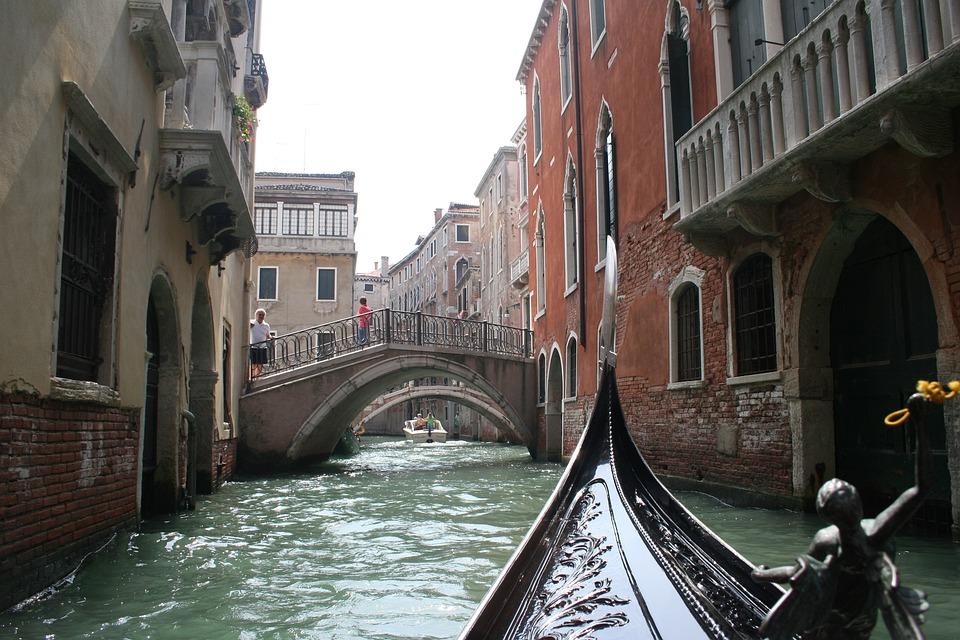 Gondola, Venice, Water, Landscape, Bridge