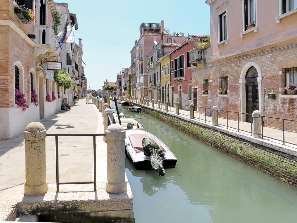 Italy, Venice, Rio, Boat, Wharf, Promenade