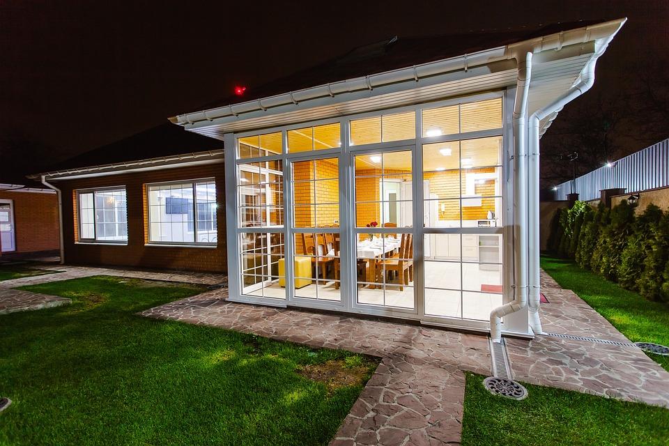 Cottage, House, Homestead, Veranda, Evening