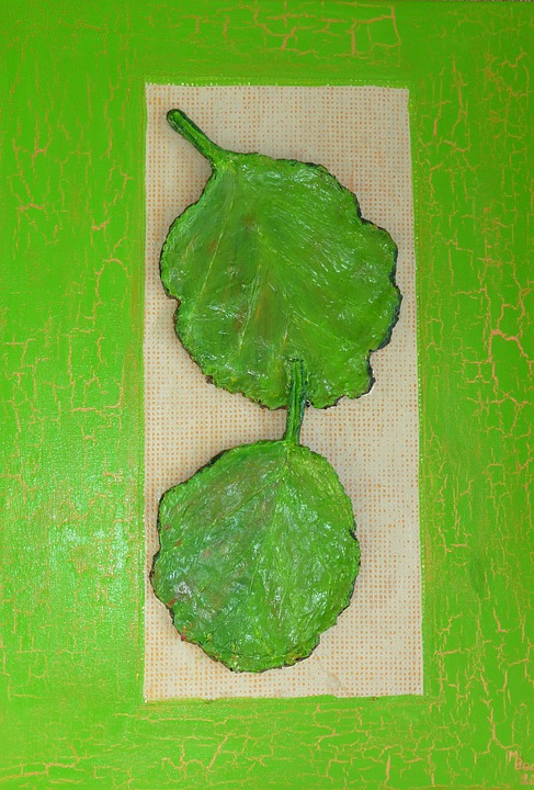 Verbana, Leaves, Green, Painting, Image, Art, Paint
