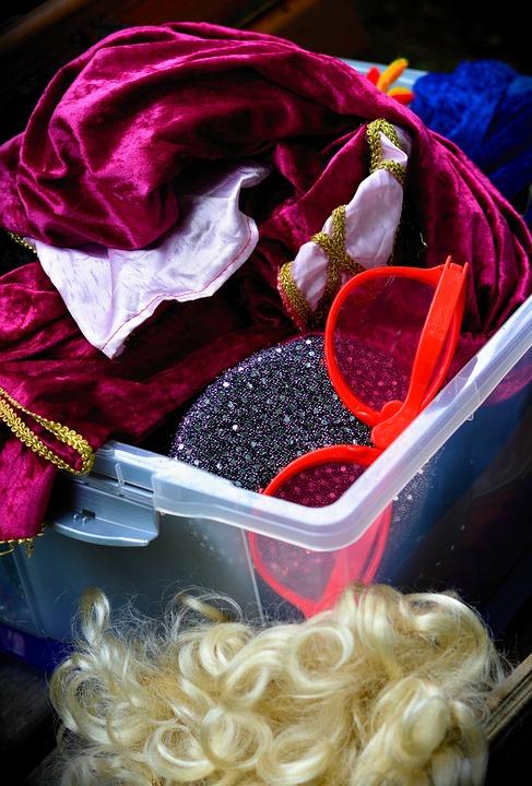 Dress Up, Panel Box, Verkleidungsbox, Play, Fun
