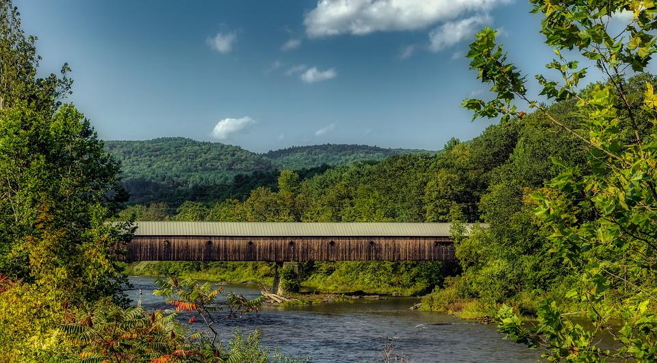 Vermont, New England, America, Mountains, Landscape