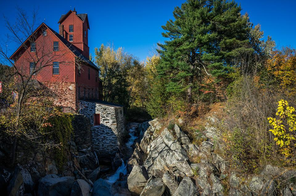 Old Mill, Vermont, Jericho, Architecture, Old, Rural