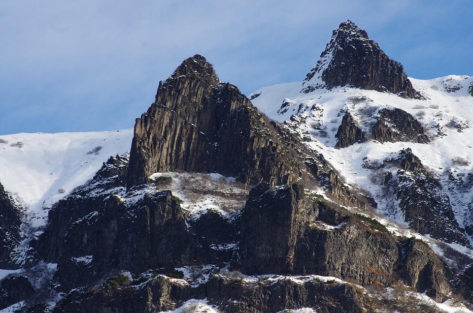 Mountains, Vertices, Ridge, Rocks, Stones, Height, Snow