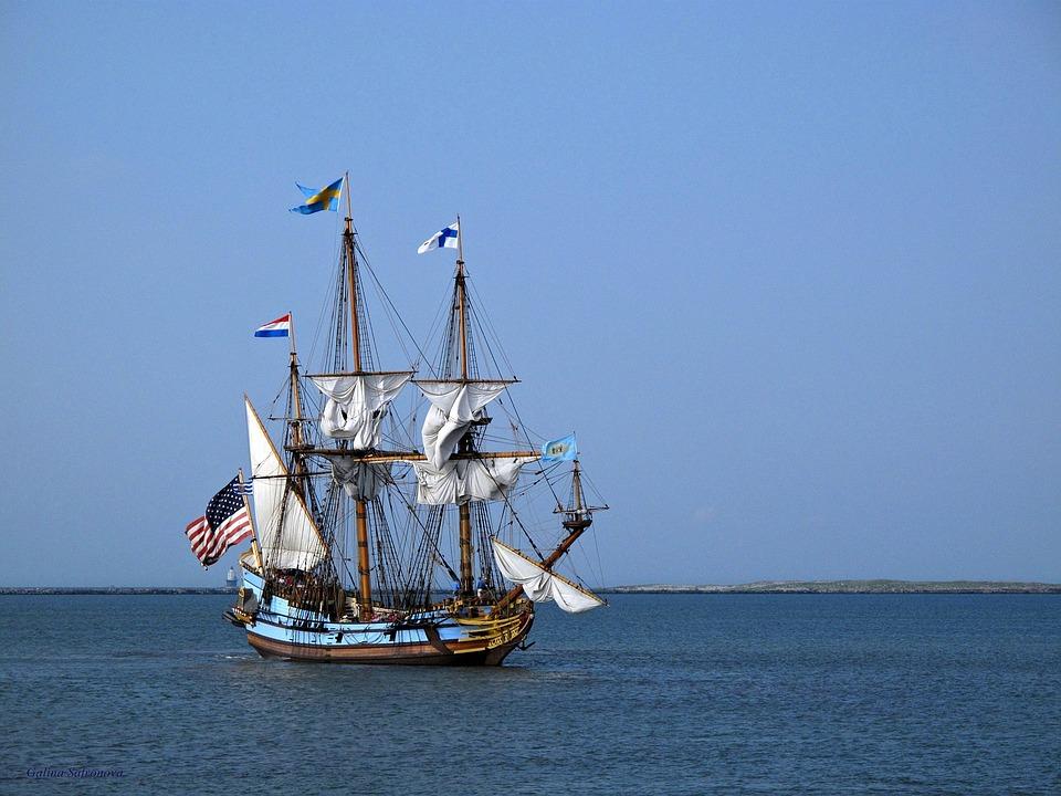 Ship, Boat, Ocean, Travel, Water, Vessel, Blue, Sail