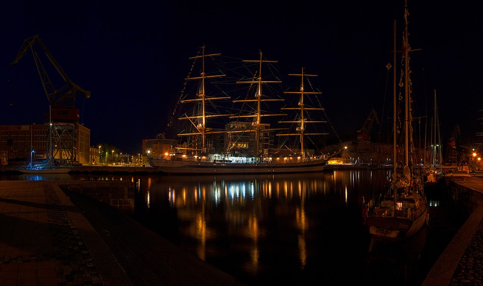 Vessel, Ship, Reflection, Turku, Aura River