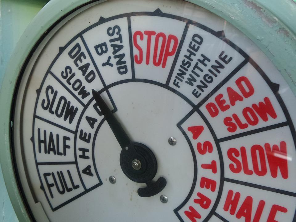 Free photo Vessel Slow Stop Meter Boat Nautical Speed Dead