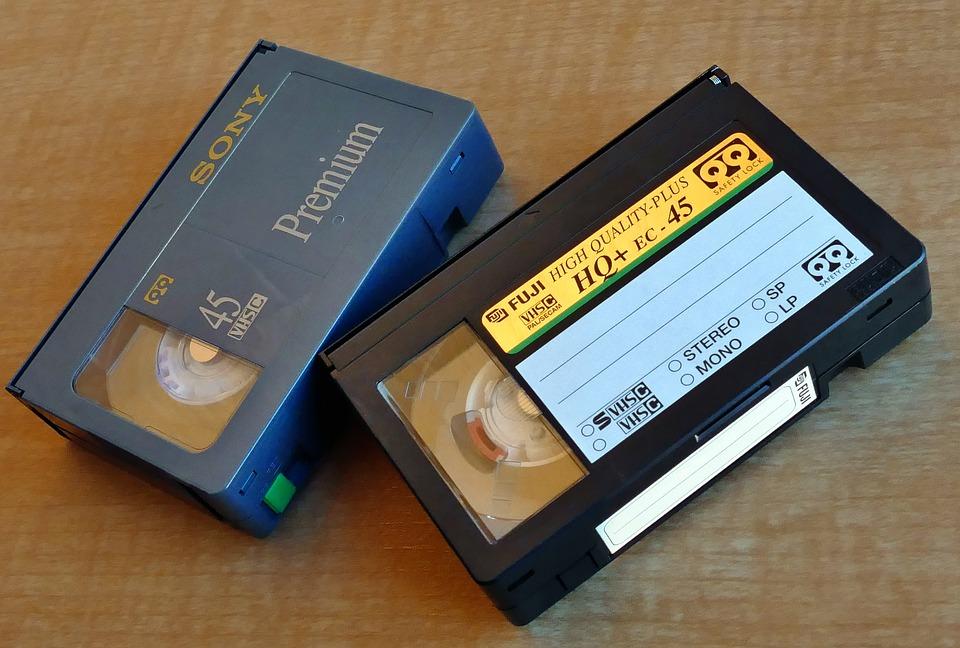 Vhs, Video, Cassette, Media, Old, Tape, Retro, Plastic