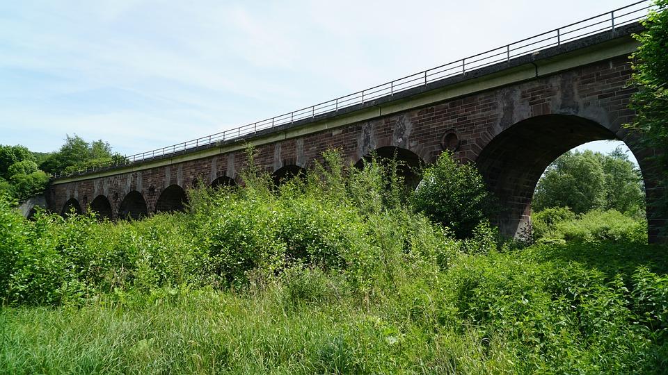 Bridge, Railway, Railway Bridge, Viaduct, Construction