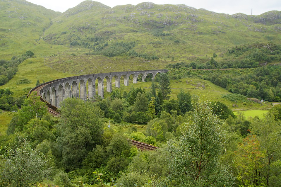 Glenfinnan, Viaduct, Railway, Railroad Tracks, Bridge