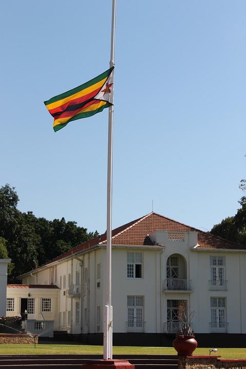 Victoria Falls Hotel, Zimbabwe, Flag