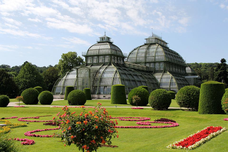 Schönbrunn, Videň, Garden, Greenhouse, Building