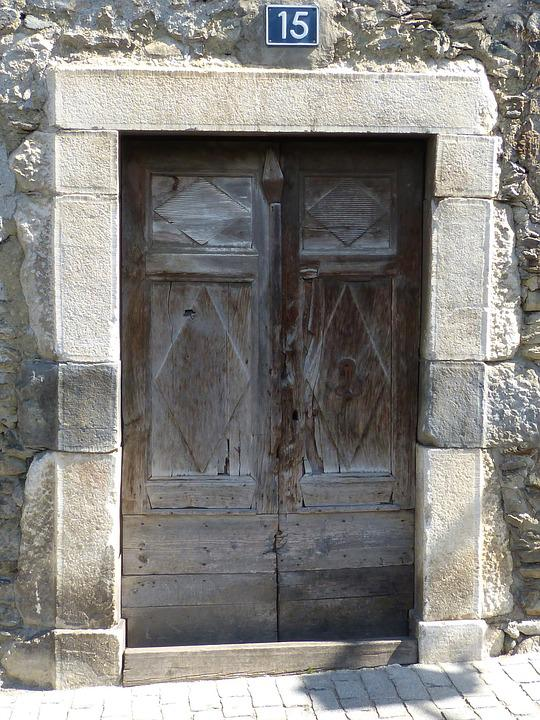 Door, Portal, Old, Carved Stone, Vielha, Val D'aran