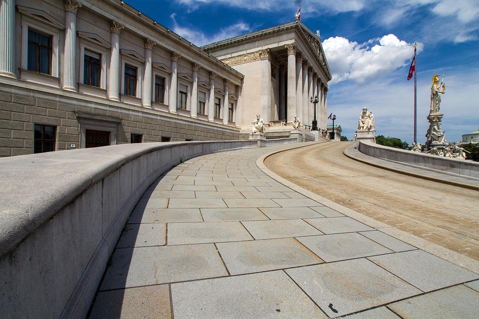 Vienna, Parliament, Main Entrance, Austria