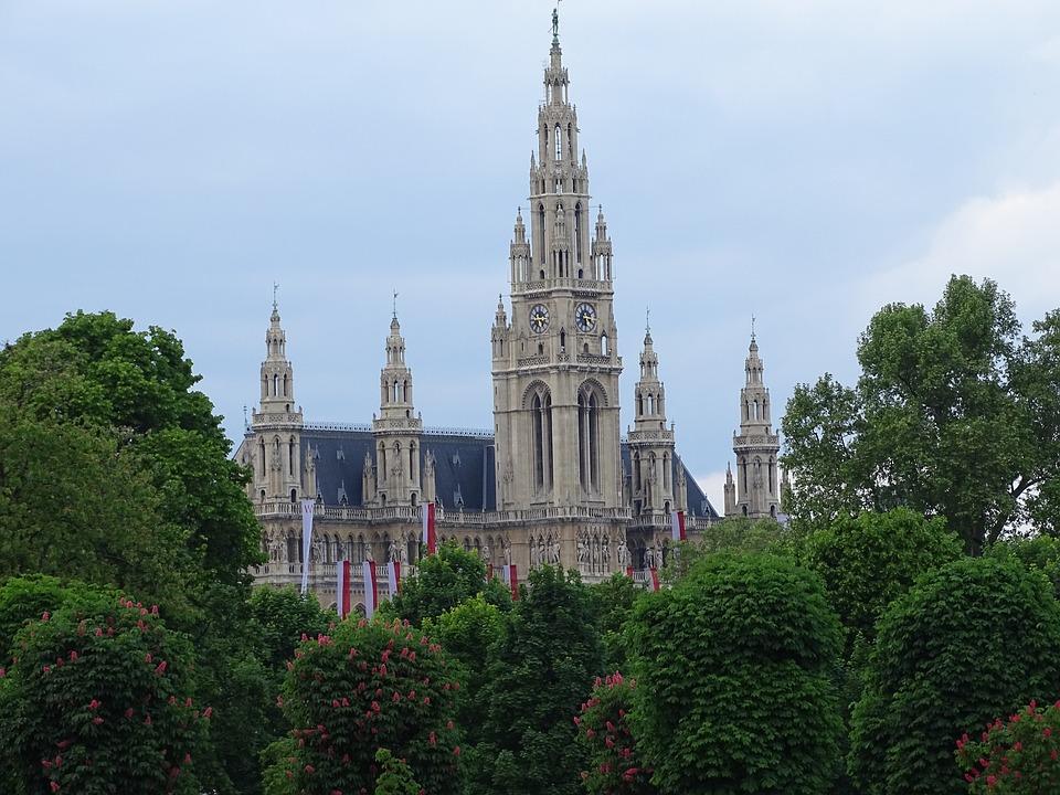 Wien, Vienna, Austria, Rathaus, City, Architecture