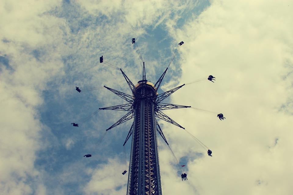 Kettenkarusell, Vienna, Fair, Prater, Sky, Ride