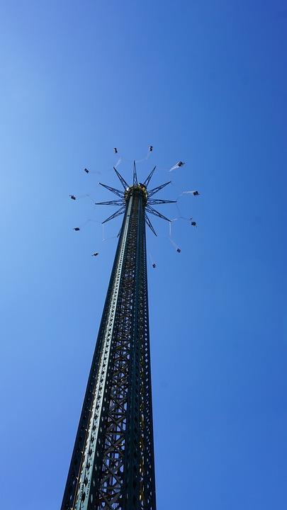 Carousel, Vienna, Sky, Austria, Summer, Entertainment