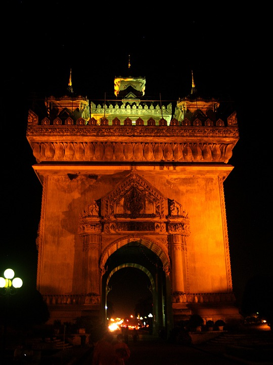 Patuxai Monument, Vientiane, Laos, Patuxai, Monument