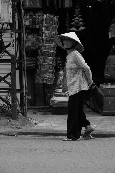 Vietnam, Asia, Woman, Road