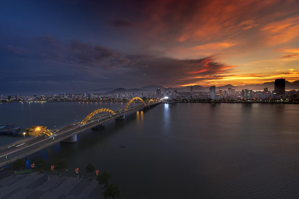 The City, Bridge, Dragon, Wave, Travel, Famous, Vietnam