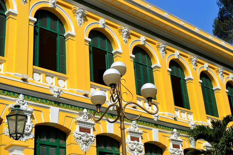 Building, Vietnam, Light, Column, Architecture, Travel