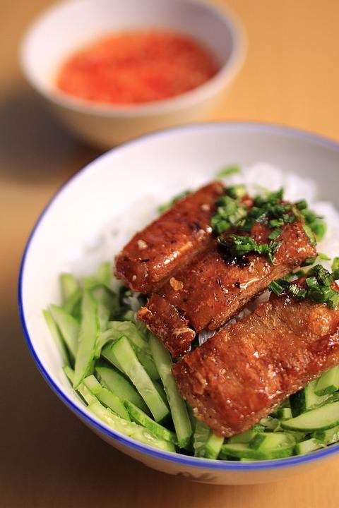 Vegetarian, Rice, Noodle, Vietnam, Sauce, Dish, Healthy