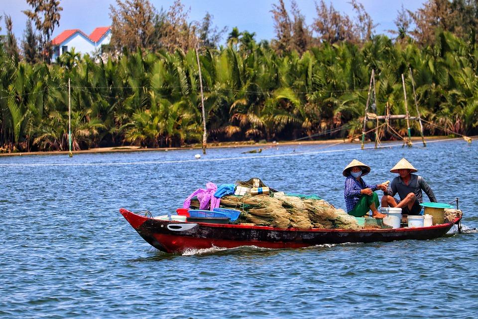 Vietnam, Hoi An, Fishing Boat, Fisherman, River