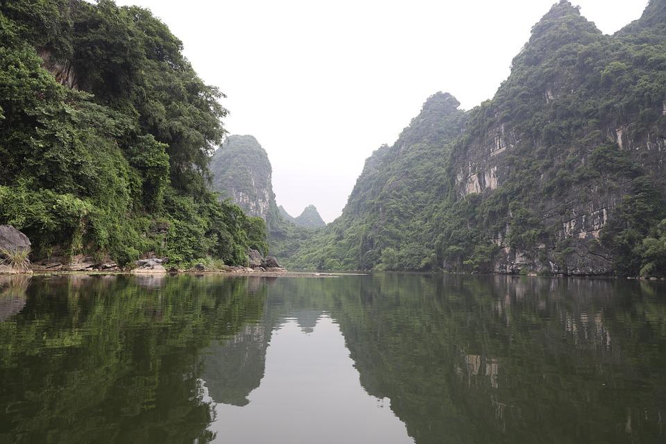 Mountain, Lake, Cloudy, Ninh-binh, Vietnam, Tourism