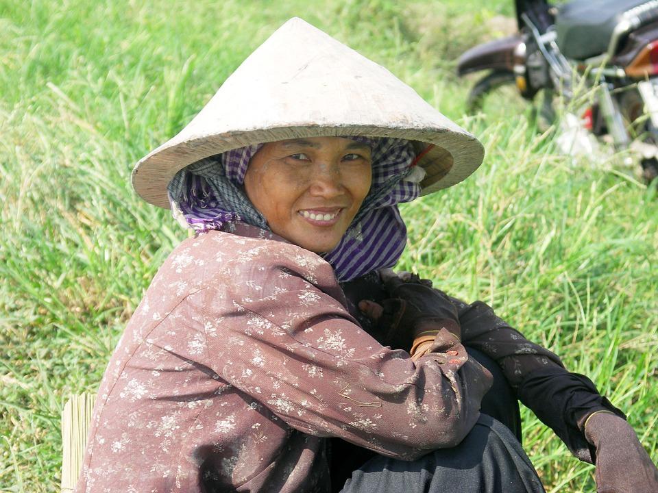 Vietnam, Woman, Paddy