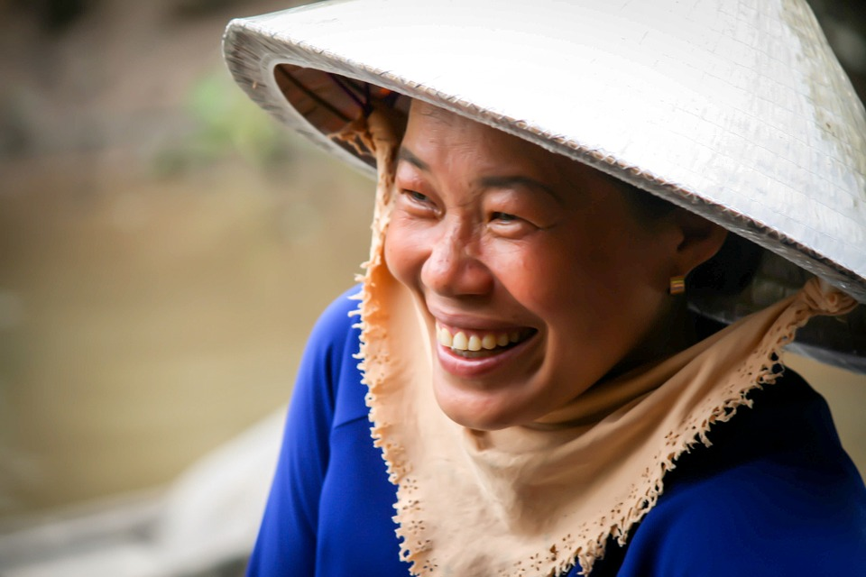 Vietnam, Woman, Smile, Travel, Culture, Traditional