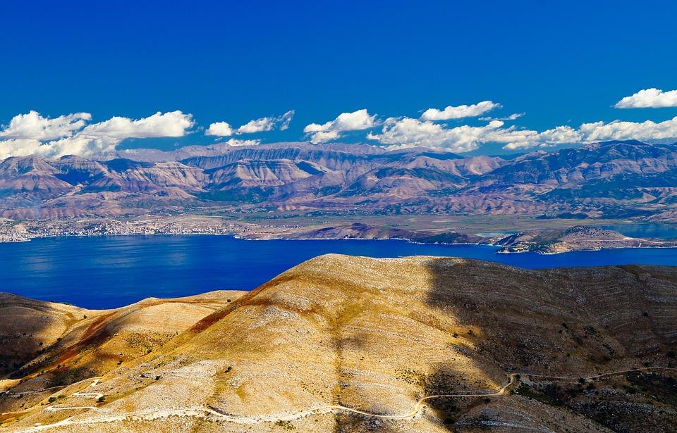 Corfu, Pantokrator, View, Albania, The Coast, Greece